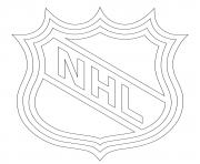 nhl logo nhl hockey sport  coloring pages