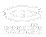 montreal canadiens habs logo nhl hockey sport1 coloring pages - Chicago Blackhawks Coloring Pages