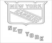 new york rangers logo nhl hockey sport  coloring pages