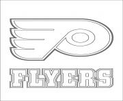 philadelphia flyers logo nhl hockey sport  coloring pages