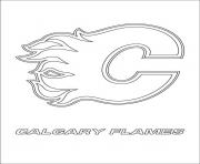 calgary flames logo coloring pages - photo#7