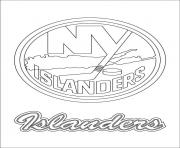 New York Islanders Logo Nhl Hockey Sport Coloring Pages Printable Mets