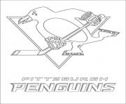 pittsburgh penguins logo nhl hockey sport coloring pages