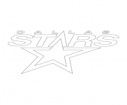 dallas stars logo nhl hockey sport coloring pages