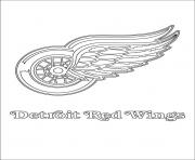 detroit red wings logo nhl hockey sport  coloring pages