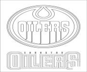 edmonton oilers logo nhl hockey sport  coloring pages