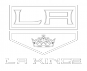 los angeles kings logo nhl hockey sport coloring pages