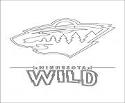 minnesota wild logo nhl hockey sport  coloring pages
