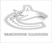 vancouver canucks logo nhl hockey sport coloring pages