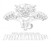 florida panthers logo nhl hockey sport  coloring pages