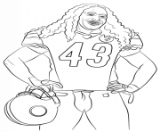 Print troy polamalu football sport coloring pages