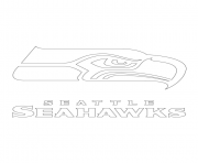 Print seattle seahawks logo football sport coloring pages