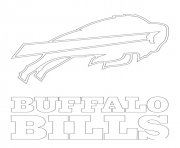 Printable buffalo bills logo football sport coloring pages
