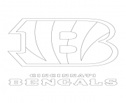 Print cincinnati bengals logo football sport coloring pages