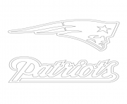 Print new england patriots logo football sport coloring pages