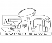 Printable super bowl 2016 football sport coloring pages