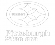 Printable pittsburgh steelers logo football sport coloring pages