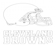 Printable cleveland browns logo football sport coloring pages