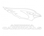 Print arizona cardinals logo football sport coloring pages
