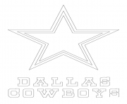 Printable dallas cowboys logo football sport coloring pages