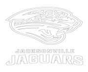 jacksonville jaguars logo football sport coloring pages