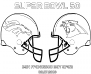 Printable super bowl 50 football sport coloring pages