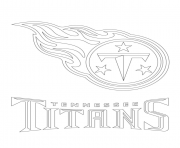 Print tennessee titans logo football sport coloring pages