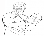 Print tim tebow football sport coloring pages
