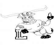 Printable ut longhorn mascot football sport coloring pages