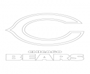 Printable chicago bears logo football sport coloring pages