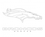 Denver Broncos Logo Football Sport Coloring Pages Printable