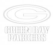 Printable green bay packers logo football sport coloring pages