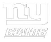 Print new york giants logo football sport coloring pages