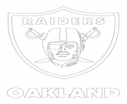 Printable oakland raiders logo football sport coloring pages