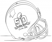 Print super bowl 2016 helmet football sport coloring pages