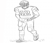 Printable tom brady football sport coloring pages