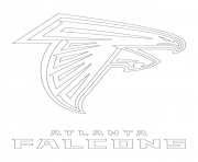 Printable atlanta falcons logo football sport coloring pages