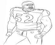 ray lewis football sport coloring pages