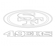 Printable san francisco 49ers logo football sport coloring pages