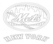 Print new york mets logo mlb baseball sport coloring pages
