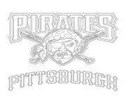 pittsburgh pirates logo mlb baseball sport coloring pages - Pittsburgh Pirates Coloring Pages