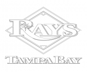 Printable tampa bay rays logo mlb baseball sport coloring pages