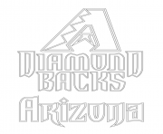 Printable arizona diamondbacks logo mlb baseball sport coloring pages