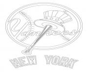 Printable new york yankees logo mlb baseball sport coloring pages