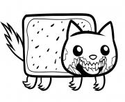 Print draw zombie nyan cat zombie nyan cat coloring pages