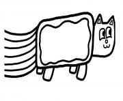 Print nyan cat fast simple coloring pages
