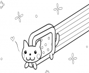Print nyan cat template by kixfe coloring pages