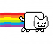 Print nyan cat with color coloring pages