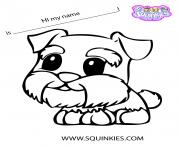 Print Squinkies official cute dog coloring pages