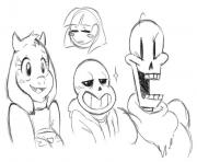 undertale sketches by ashleynicholsart  coloring pages